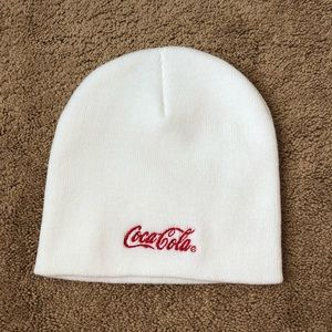 White Coca Cola Beanie